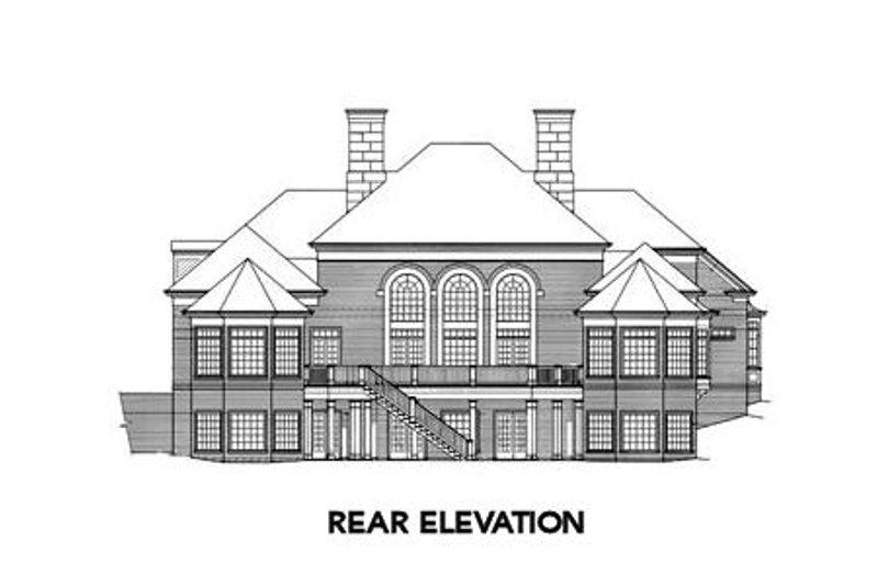 Colonial Exterior - Rear Elevation Plan #429-8 - Houseplans.com