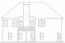 Colonial Exterior - Rear Elevation Plan #419-120