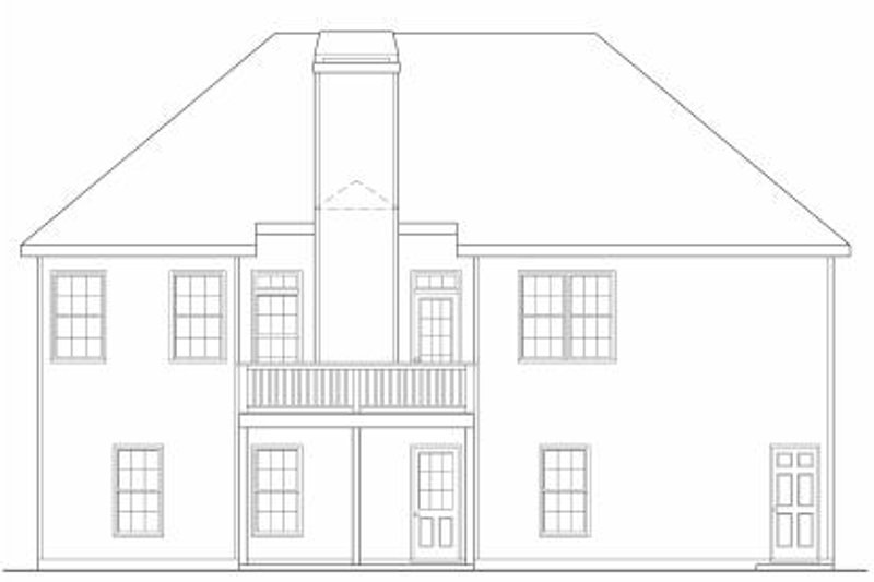 Colonial Exterior - Rear Elevation Plan #419-120 - Houseplans.com