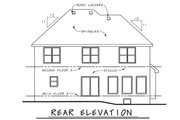 European Style House Plan - 4 Beds 2.5 Baths 2301 Sq/Ft Plan #20-2140 Exterior - Rear Elevation