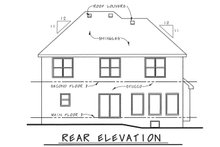 Home Plan - European Exterior - Rear Elevation Plan #20-2140