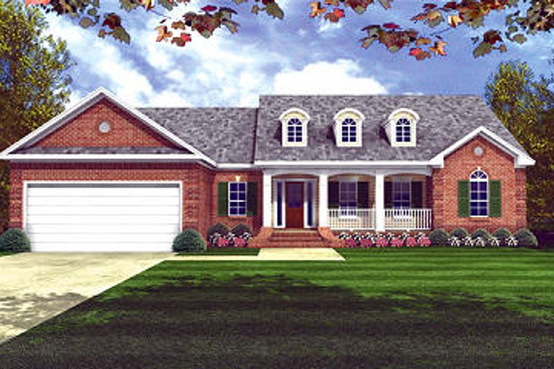 Southern Exterior - Front Elevation Plan #21-209