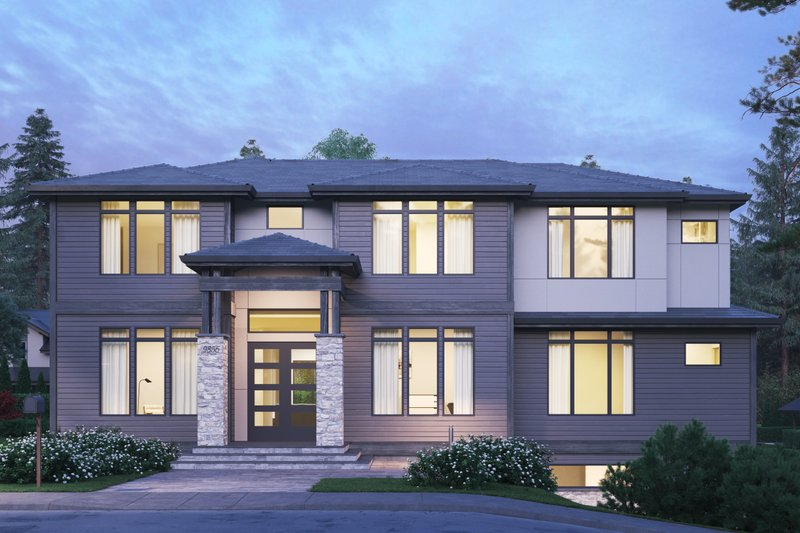 European Style House Plan - 5 Beds 4.5 Baths 4417 Sq/Ft Plan #1066-74 Exterior - Front Elevation