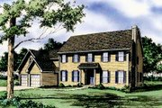 Colonial Style House Plan - 4 Beds 3.5 Baths 2965 Sq/Ft Plan #405-104