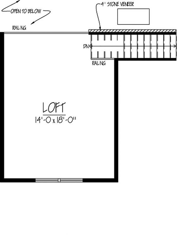 Country Floor Plan - Upper Floor Plan Plan #1061-12