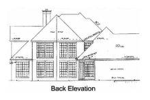 European Exterior - Rear Elevation Plan #52-154