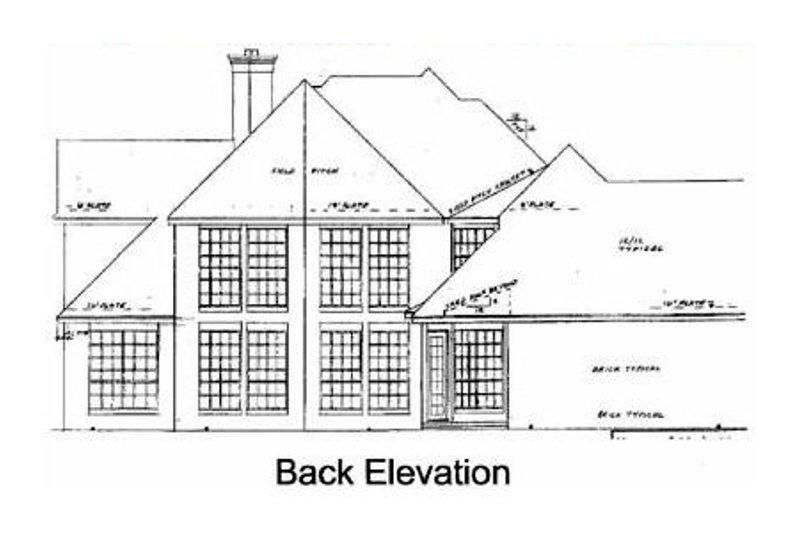 European Exterior - Rear Elevation Plan #52-154 - Houseplans.com