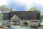 Traditional Style House Plan - 3 Beds 2 Baths 1535 Sq/Ft Plan #929-57 Exterior - Rear Elevation