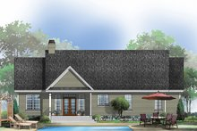 Home Plan - Traditional Exterior - Rear Elevation Plan #929-57