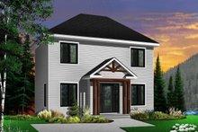 Architectural House Design - European Exterior - Front Elevation Plan #23-610
