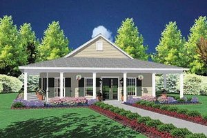 Home Plan Design - Southern Exterior - Front Elevation Plan #36-136
