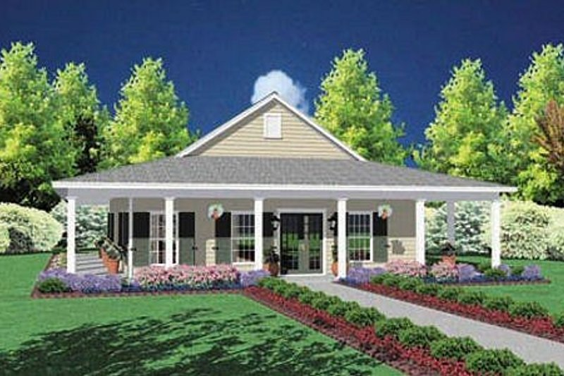 Southern Style House Plan - 3 Beds 2 Baths 1567 Sq/Ft Plan #36-136 Exterior - Front Elevation