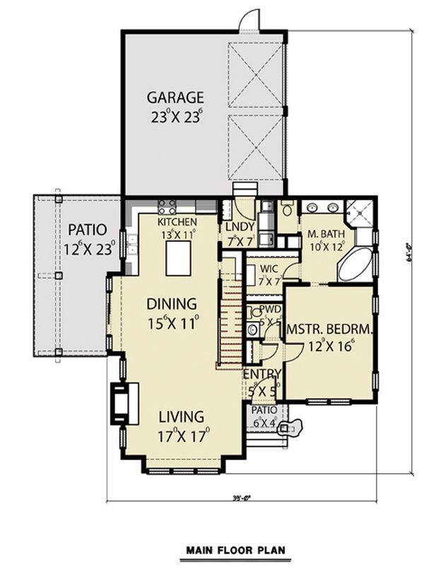 Contemporary Floor Plan - Main Floor Plan #1070-80