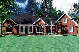 Architectural House Design - Southern Exterior - Front Elevation Plan #21-102