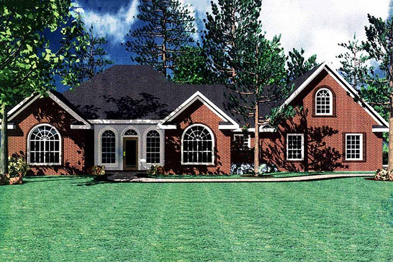Southern Exterior - Front Elevation Plan #21-102