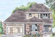 Traditional Style House Plan - 4 Beds 2.5 Baths 1488 Sq/Ft Plan #20-1251 Exterior - Front Elevation