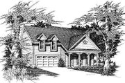 Traditional Style House Plan - 3 Beds 2.5 Baths 1486 Sq/Ft Plan #329-185 Exterior - Front Elevation