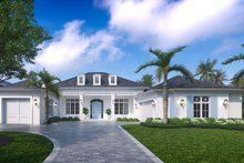 Dream House Plan - Contemporary Exterior - Front Elevation Plan #27-572
