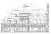 European Style House Plan - 6 Beds 5.5 Baths 3628 Sq/Ft Plan #5-402 Exterior - Rear Elevation