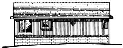 Traditional Exterior - Rear Elevation Plan #20-134 - Houseplans.com