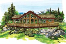 Home Plan - Contemporary Exterior - Front Elevation Plan #47-315