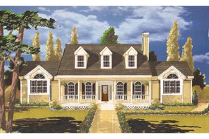 Architectural House Design - Farmhouse Exterior - Front Elevation Plan #3-140