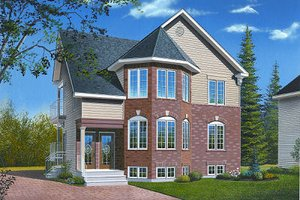 Dream House Plan - European Exterior - Front Elevation Plan #23-773