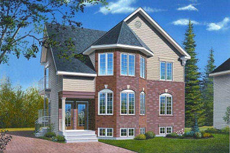 Home Plan - European Exterior - Front Elevation Plan #23-773