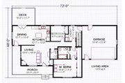 Traditional Style House Plan - 2 Beds 1.5 Baths 1374 Sq/Ft Plan #414-104 Floor Plan - Main Floor