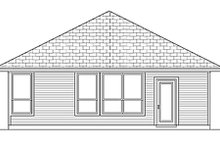 House Design - Cottage Exterior - Rear Elevation Plan #84-449