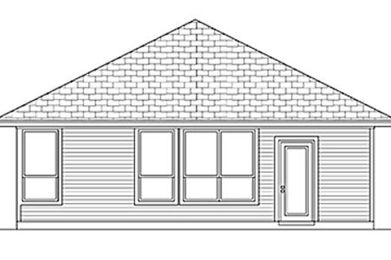 Cottage Exterior - Rear Elevation Plan #84-449 - Houseplans.com