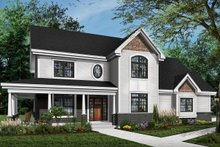 Architectural House Design - Traditional Exterior - Front Elevation Plan #23-603