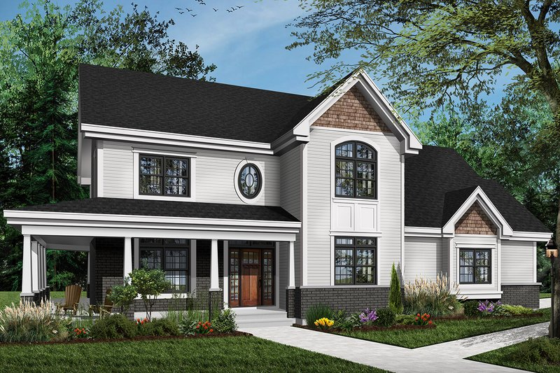 Dream House Plan - Traditional Exterior - Front Elevation Plan #23-603