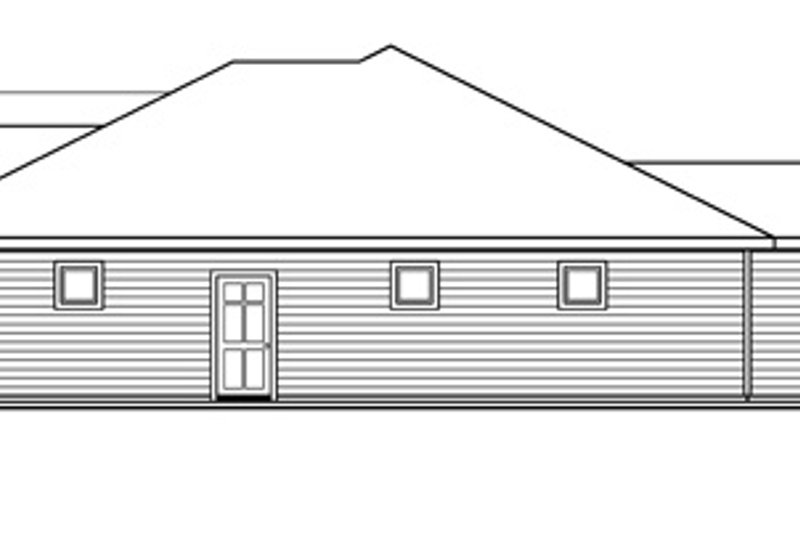 Traditional Exterior - Other Elevation Plan #124-597 - Houseplans.com