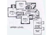 Colonial Style House Plan - 4 Beds 3.5 Baths 3032 Sq/Ft Plan #310-913 Floor Plan - Upper Floor