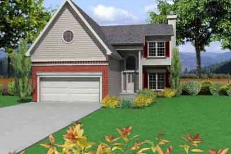 Traditional Style House Plan - 3 Beds 2.5 Baths 1397 Sq/Ft Plan #6-114