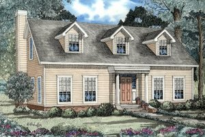 Colonial Exterior - Front Elevation Plan #17-231