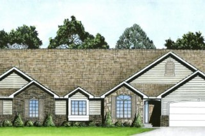 Traditional Exterior - Front Elevation Plan #58-184 - Houseplans.com