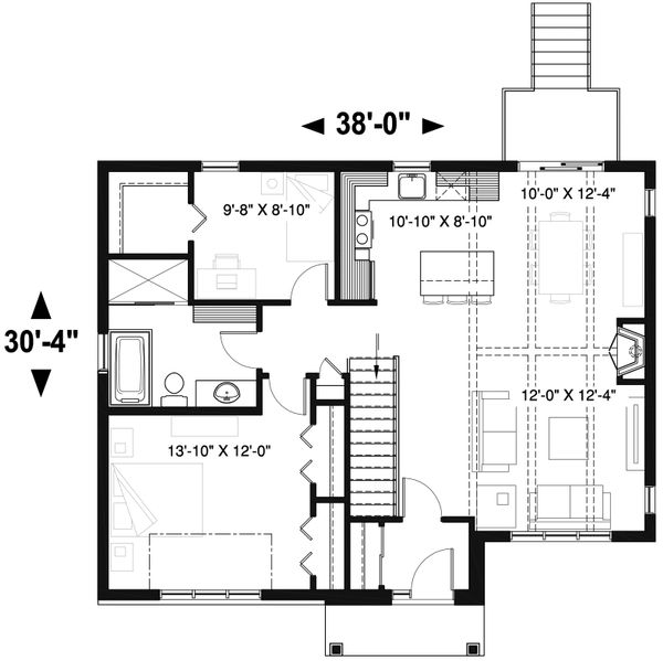 Craftsman Floor Plan - Main Floor Plan Plan #23-2664