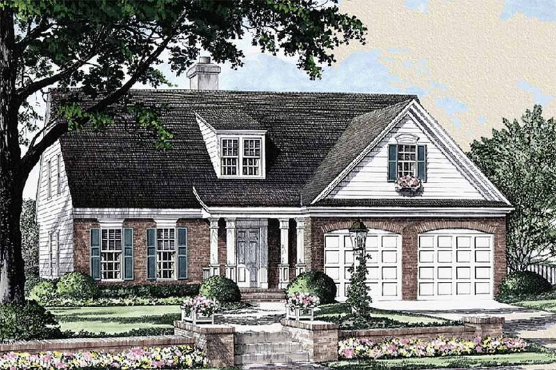Traditional Exterior - Front Elevation Plan #137-196 - Houseplans.com