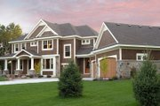 Craftsman Style House Plan - 5 Beds 4.5 Baths 4972 Sq/Ft Plan #51-576 Exterior - Front Elevation