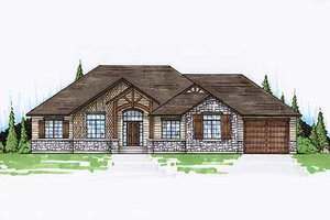 Architectural House Design - Colonial Exterior - Front Elevation Plan #5-237