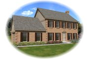 Colonial Style House Plan - 3 Beds 2.5 Baths 2316 Sq/Ft Plan #81-13849 Exterior - Front Elevation