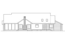 House Design - Ranch Exterior - Rear Elevation Plan #124-413