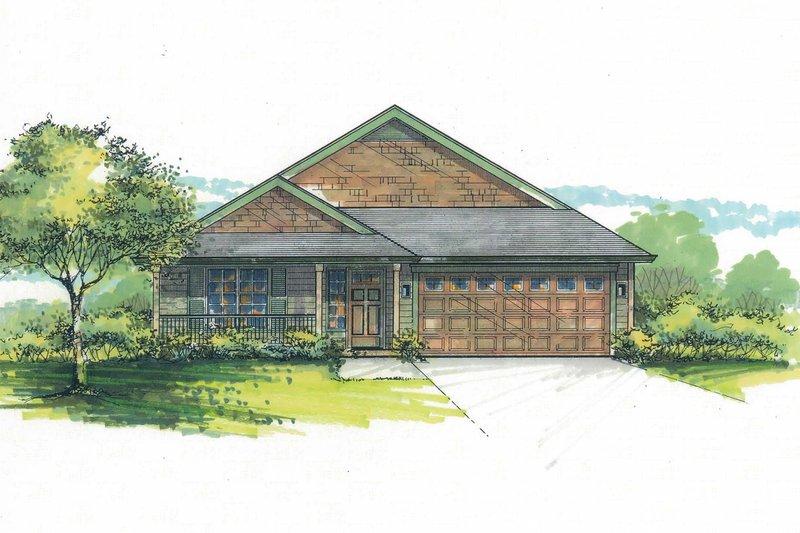 Craftsman Exterior - Front Elevation Plan #53-599