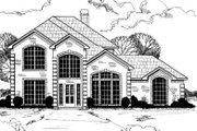 European Style House Plan - 4 Beds 3 Baths 3050 Sq/Ft Plan #317-107