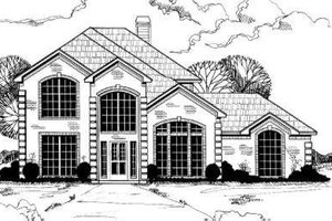 European Exterior - Front Elevation Plan #317-107