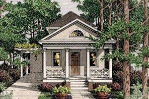 Colonial Exterior - Front Elevation Plan #406-9611