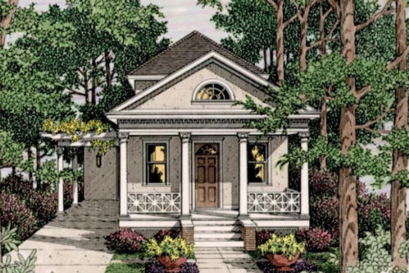 Colonial Style House Plan - 3 Beds 2.5 Baths 1778 Sq/Ft Plan #406-9611 Exterior - Front Elevation