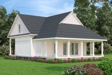Home Plan - Cottage Exterior - Rear Elevation Plan #45-581